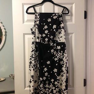 Black and white floral sundress